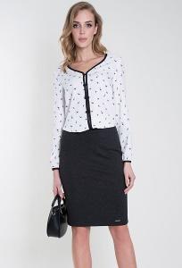 Чёрная трикотажная юбка Zaps Stella