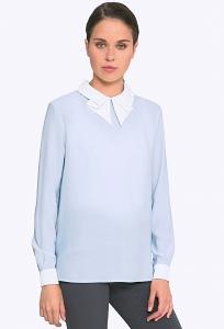 ede28ea74fa Блузка женская с воротником хомут Emka B2268 mario · Голубая блузка с белым  воротничком Emka b 2262 angel