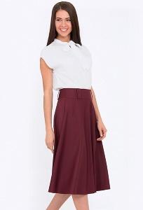 db6c277ad90 Купить расклешенную юбку бордового цвета Emka 505 alonsa в интернет ...