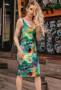 Летнее платье футляр из трикотажа Donna Saggia DSP-340-94t