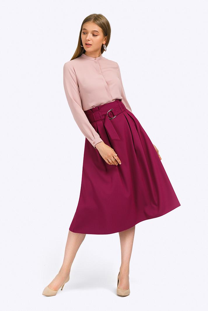 696fdd60306 Фиолетовая юбка-миди с завышенной талией Emka S702 fresca купить в ...