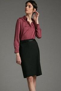 Офисная классическая юбка-карандаш Emka S656/bona