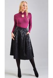 Чёрная юбка TopDesign B8 065