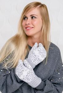 Женские варежки SuperShapka Snowflake