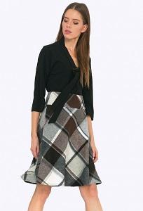 Шерстяная юбка А-силуэта Emka S504/agnessa