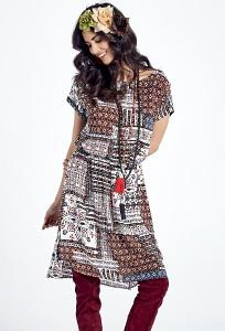 Летнее платье с орнаментом Ennywear 250084