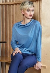 Синий женский джемпер Flaibach 076W8