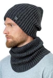 Мужской комплект удлиненная шапка + снуд Landre Адриано