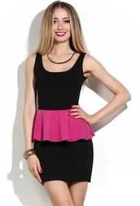 Короткое черное платье Donna Saggia DSP-45-62t