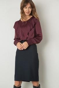 Офисная модель юбки с разрезом Emka S663/lorita