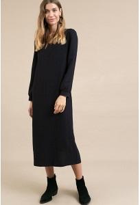 Темно-синее платье в полоску Emka PL968/kirush