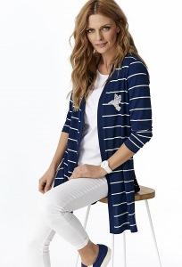 Тёмно-синий кардиган в полоску Sunwear Y35-5-30