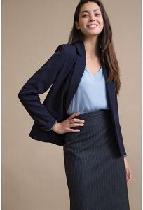 Темно-синяя юбка в полоску Emka S866/malish