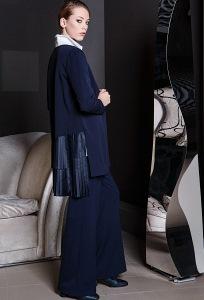 Тёмно-синие широкие брюки Flaibach 117W7