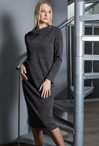 Стильное платье серого цвета TopDesign B9 022