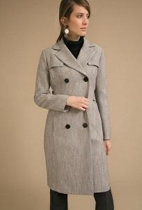 Двубортное пальто Emka R052/monalisa