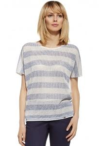 Полосатая блузка из мягкого трикотажа Enny 230088