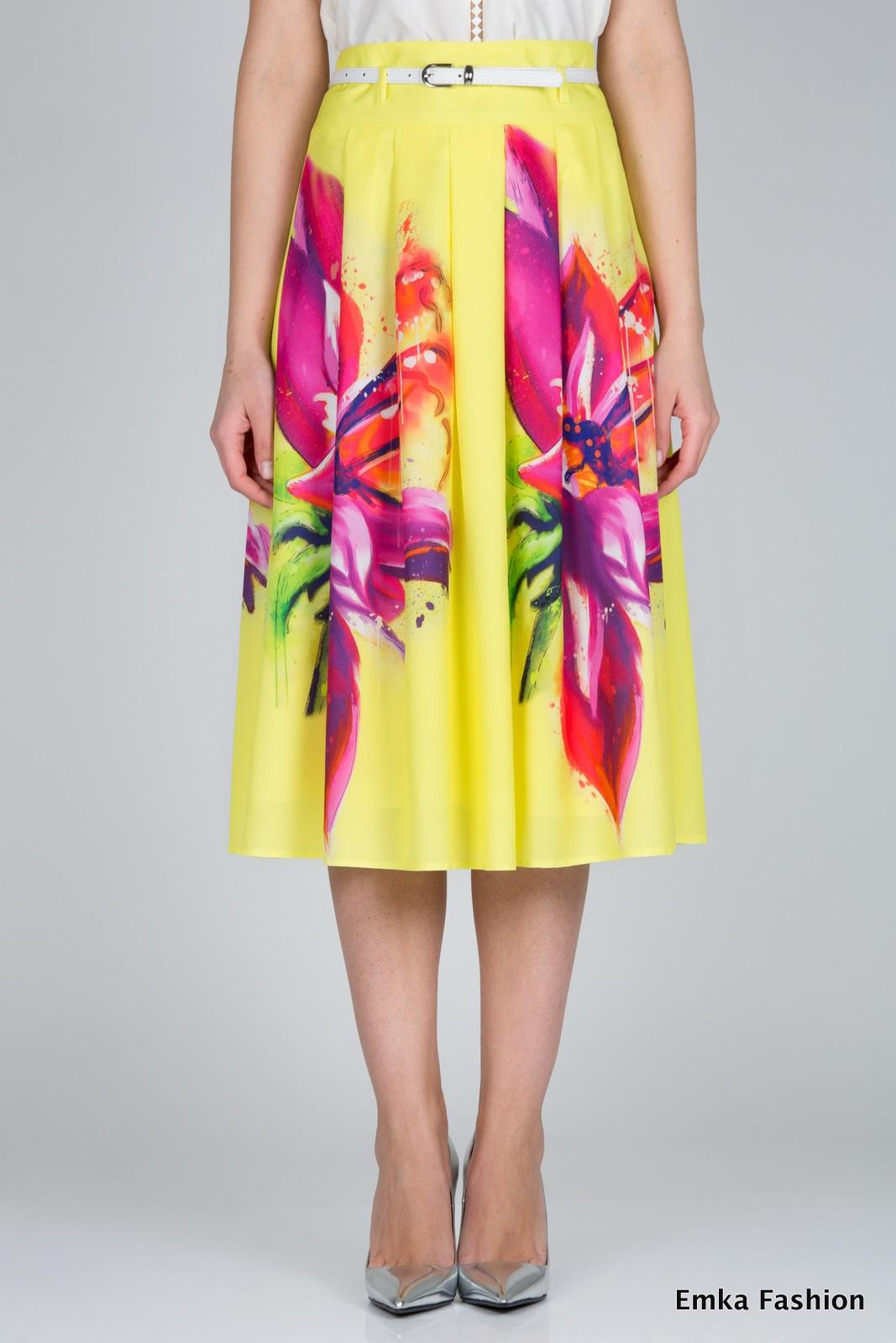 554ace2ca30 Летняя юбка Emka Fashion 306-passion - Malinka-fashion.ru