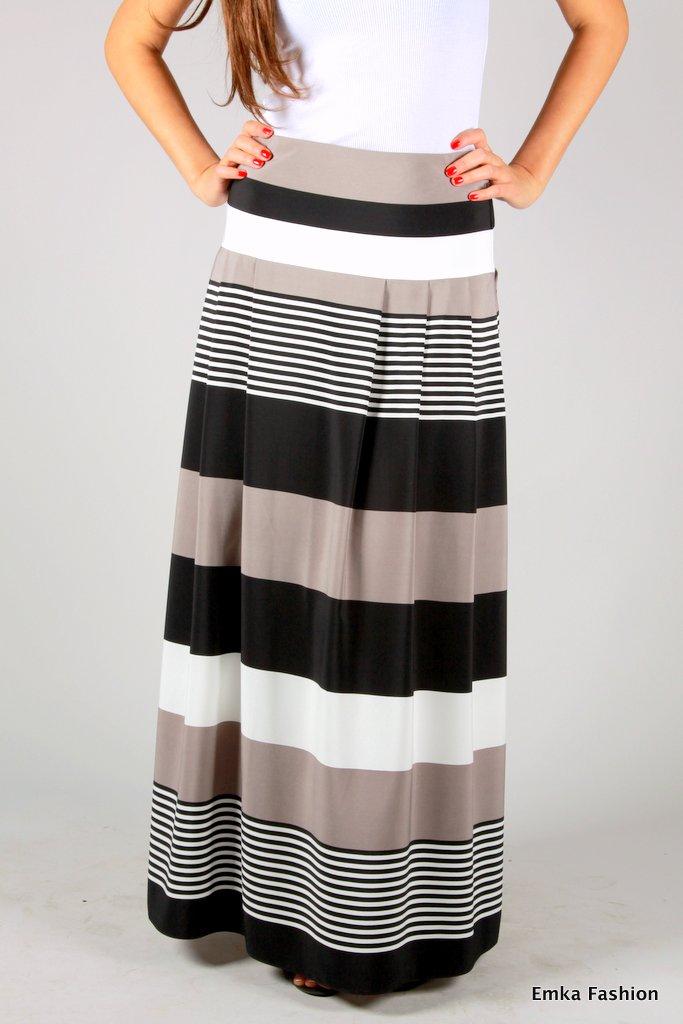 7134d064b7e Длинная юбка в полоску. Увеличить