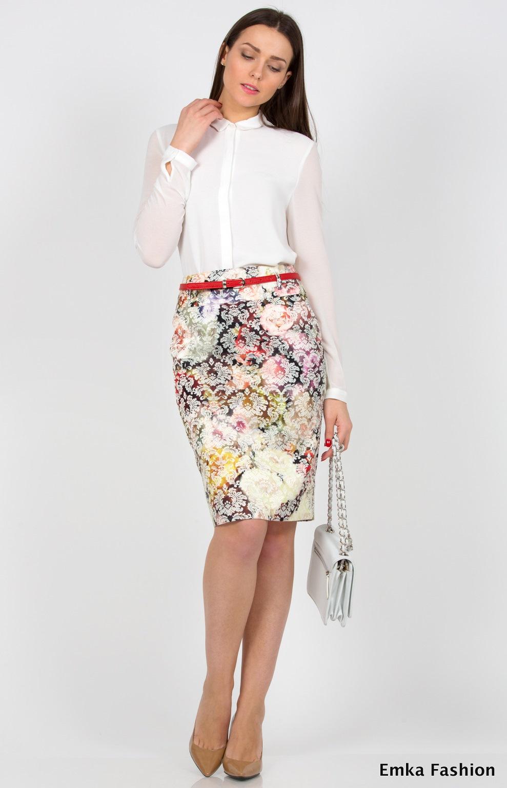 547eb0750c4 Юбка до колена Emka Fashion 202-tanya - Malinka-fashion.ru