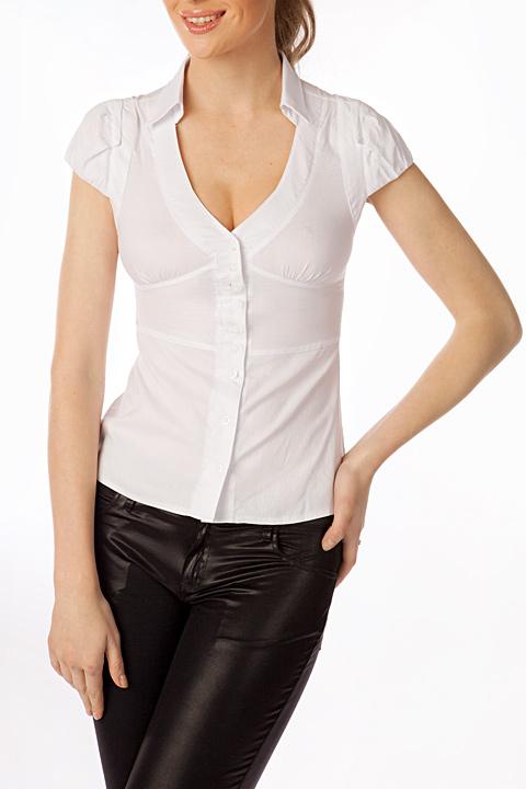 bb607ed69b1 Блузка с глубоким вырезом   Б549-853 - Интернет-магазин блузок ...