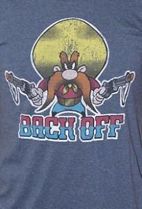 Мужская футболка с эффектом винтаж BACK OFF