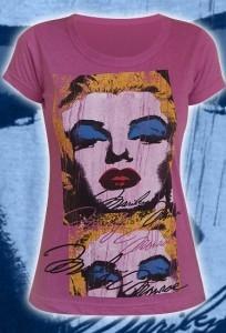 """Темно-розовая женская футболка """"Marilyn Monro"""""""