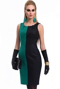 Черно-зеленое платье Zaps Lorena