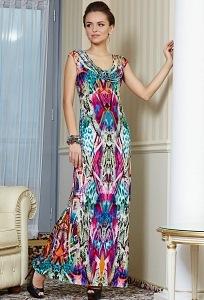 Длинное яркое платье TopDesign Premium PA4 18