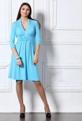 Голубое трикотажное платье Remix