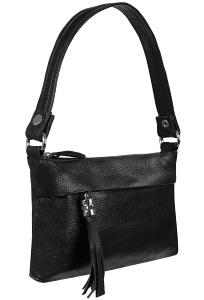 Маленькая сумочка чёрного цвета Teendy Bags Message