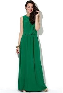 e421645bf92 Длинное летнее платье зеленого цвета Donna Saggia DSP-34-73t ...