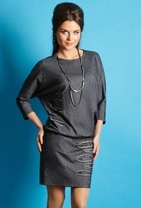 Тёмно-серое платье TopDesign B5 154