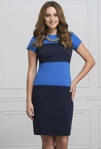Сине-голубое платье Rosa Blanco 3015