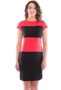 Чёрно-коралловое платье Rosa Blanco 3015