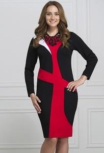 Красивое приталенное платье Rosa Blanco 3045
