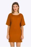 Платье горчичного цвета Emka PL733/anaida
