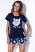 Тёмно-синяя пижама с шортиками MyMaDo Kristy