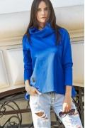 Синяя блузка с воротником хомут Numinou NU114