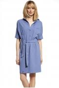 Летнее платье с рубашечным воротом Enny 230050