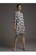Платье с драпировкой по рукаву Emka PL957/paulo