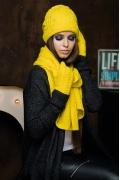 Яркий комплект (шапка+шарф+варежки) SuperShapka Вики