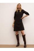 Платье А-силуэта чёрного цвета Emka PL1072/premiera