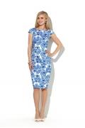 Летнее платье-футляр из хлопка Donna Saggia DSP-180-67