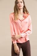 Легкая блузка кораллового цвета Emka B2428/ririba