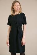 Черное платье в полоску Emka PL778/makkenzi