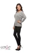 Джемпер серого цвета Conso Wear KWJS160732