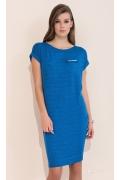 Летнее платье из трикотажа синего цвета Zaps Dobrawa