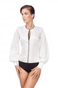 Чёрно-молочная блузка-боди Viva La Donna Б 02-2