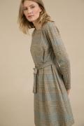 Платье в клетку с поясом Emka PL971/berima